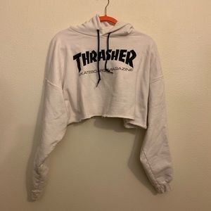 Cropped thrasher hoodie